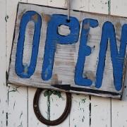Wir haben geöffnet.